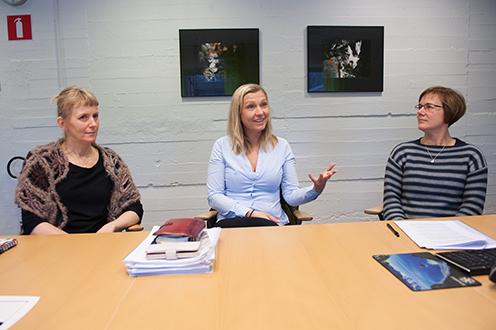 Från vänster Terese Sundvall, Helea Hasselquist och Lisa Osterman